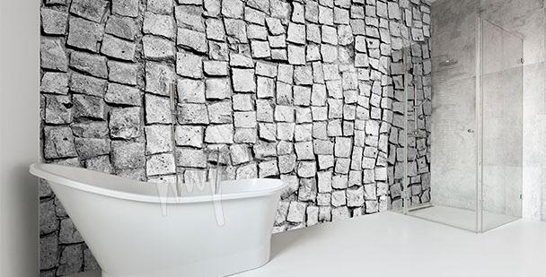 Papier peint pour sallle de bains pierre